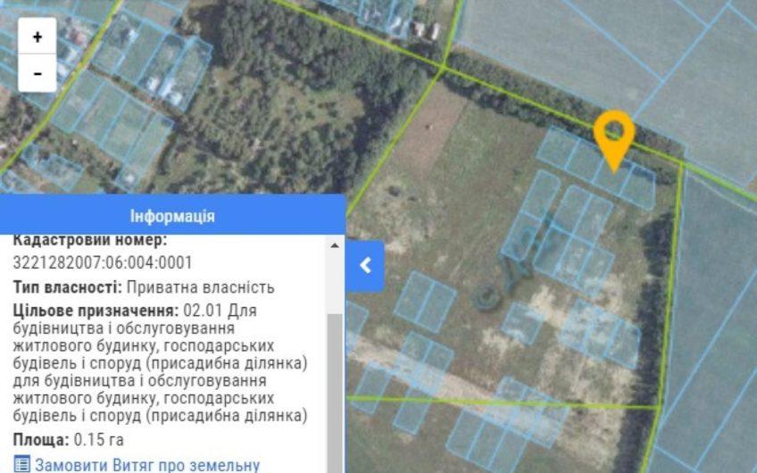 Продажа земельного участка под застройку. с. Куйбышев, Бровары